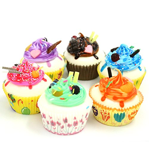 Nice purchase 6Color Realistic Artificial Fake Cake Cupcake Model Home Staging Equipment Crafts Photography Props Home Decoration
