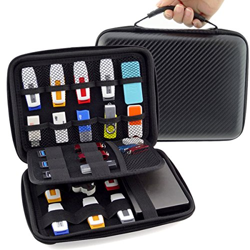 Aprince Digital Gadget Case,Designed For External Hard Drive,USB Flash Drives,Power Banks - (Digital Hard Drive Flash)