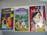 Walt Disney VHS Tapes Mary Poppins - Lady and the Tramp - Mulan