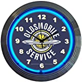 Cheap Neonetics Cars and Motorcycles Oldsmobile Service Neon Wall Clock, 15-Inch