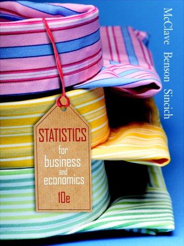 Statistics for Business & Economics (10th Edition)