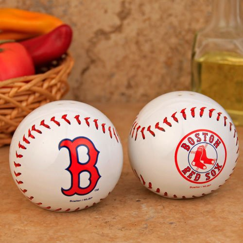 MLB Boston Red Sox Baseball Salt & Pepper Shaker Set (Sox Mlb Glass)
