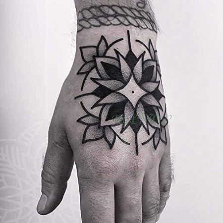 Etiqueta engomada del Tatuaje Temporal Impermeable Anillo de Dedo ...