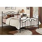 DHP Tokyo Metal Bed, Classic Design, Includes Metal Slats, Queen, Bronze