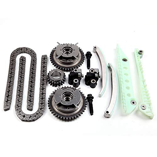 OCPTY Timing Chain Kit Tensioner Guide Rail Cam Gears fits for 2007-2010 Ford Mustand Explorer Sport Trac 4.6L, 2006-2010 Ford Explorer Mercury Mountaineer 4.6L TK4179