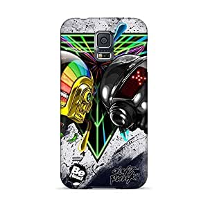 JasonPelletier Samsung Galaxy S5 Durable Hard Cell-phone Case Support Personal Customs High-definition Daft Punk Band Image [fFV487qKqs]