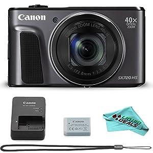 Canon PowerShot SX720 HS (Black), Liquid Deals Mirco-fiber Camera Cleaning Cloth