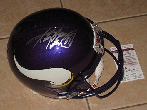 Adrian Peterson #28 Autographed Signed Minnesota Vikings Full Size Replica Helmet - JSA Witness COA (Autographed Minnesota Replica Helmet Vikings)