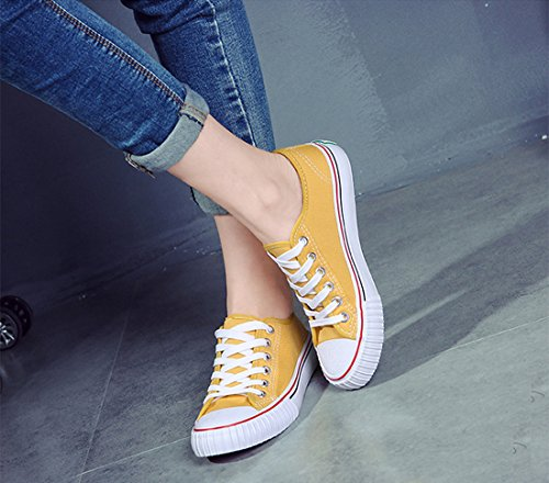 Taglio Giallo Tela Scarpe Unisex Colore Di Gli Moda Formatori Uomini Stringate Sneaker Donne Di Amint Casuali Le Scarpe Per E Sportive Basso EwqtxW1f