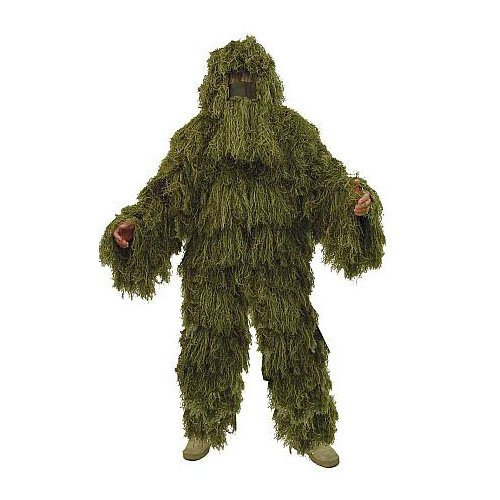 Rothco Bushrag Ultralight Ghillie Jacket and Pants in Woodland - Medium / - Jacket Ghillie Ultralight