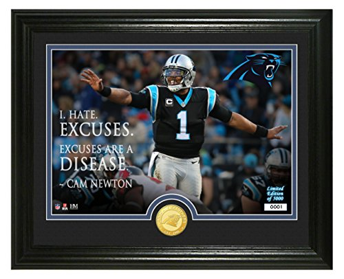 (NFL Carolina Panthers Cam Newton Quote Silver Coin Photo Mint, 17