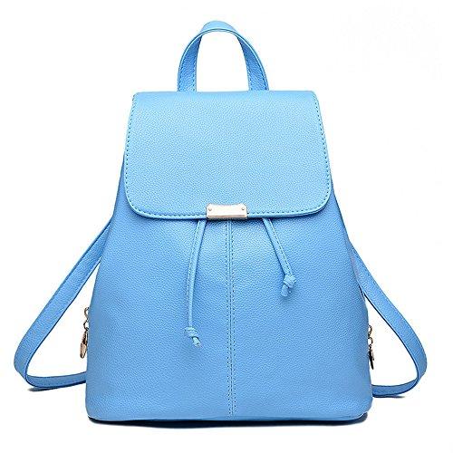 Wewod Mujeres Bolso de Escuela Mochila de a Diario de Moda Mochila para Viaje Deporte Shopper 28 x 33 x 14 cm (L X H x W ) Azul
