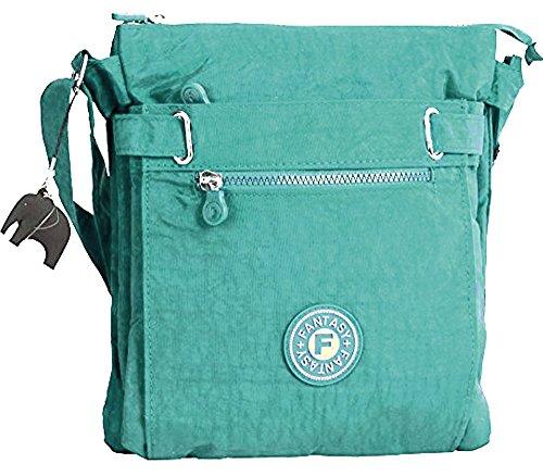 Shop Handbag Elephant Compartment Zip Bag Charm Shoulder Fabric Lightweight Multi Big Crossbody Turquoise Messenger with w7d45qw