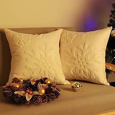Amazon.com: Lewondr - Funda de cojín de Navidad, 2 unidades ...