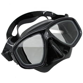 Máscara buceo - Lentes correctoras RX para miopía - Visión total - Negro - -1