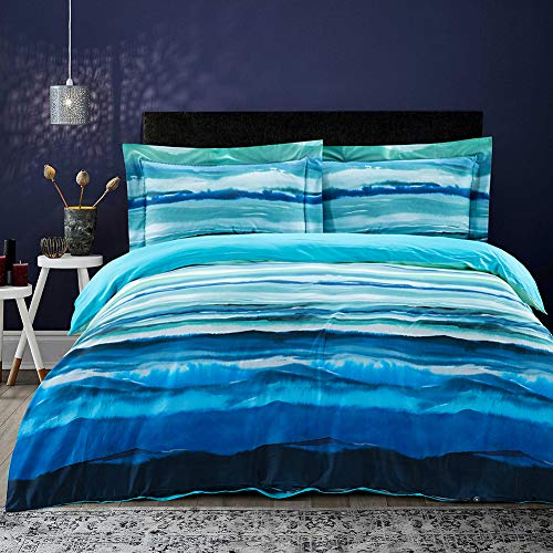 Cotton Duvet Cover Set King Queen Size Hotel Bedding Collection Sheet 3 Piece Ultra Soft Hypoallergenic, Meryl, King