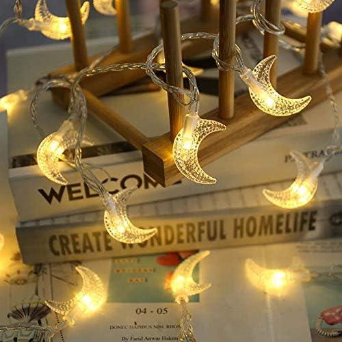 Luces de hadas 6M Luna forma LED cuerda luz luz luz lámpara de hadas guirnalda para el árbol de Navidad fiesta de boda Ramadán decoración: Amazon.es: Iluminación