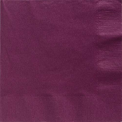 Big Party Pack 2-Ply Dinner Napkins | Berry Red | Pack of 50 | Party Supply (Napkins Paper Burgundy)