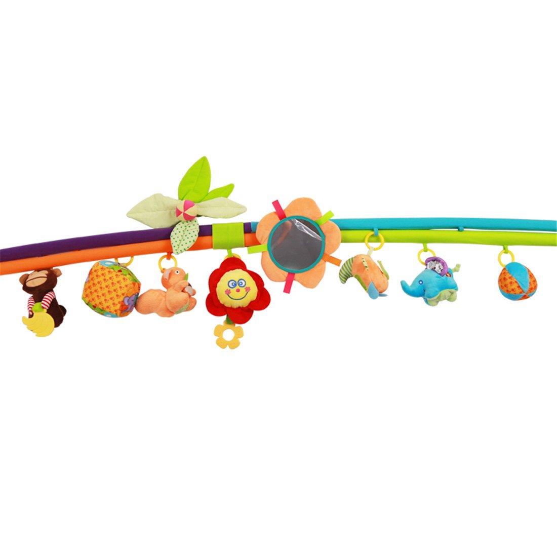 130x130x60cm, animal de la historieta Kenmont Alfombras de juego beb/és Actividades Gimnasio Manta Con juguetes musicales educativos