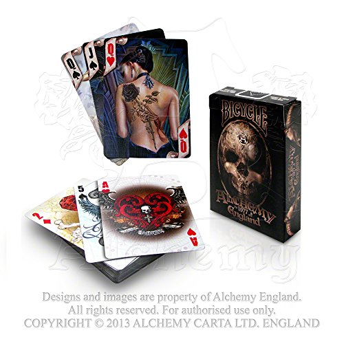 Poker Playing Card Deck Alchemy Gothic Hand Painted Full Color Artwork 54 Cards 2 Jokers