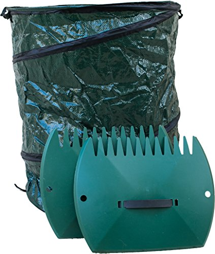Cheap Garden Leaf Grabber Scoop & 30 Gallon Bag. Clean Your Yard Fast & Easy! Plastic Hand Rakes & Collapsible Bag. Leaves Picker & Big Container Set. Mulch Collector Rake. Outdoor Trash Grabbers
