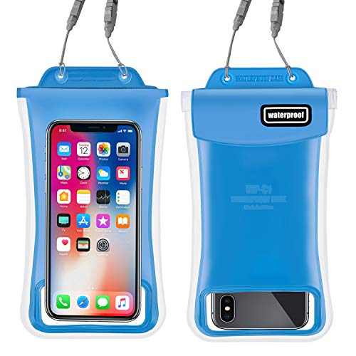 Gihery Waterproof Phone Pouch,Floatable IPX8 Universal Dry Bag up to 6.0'' Cellphone Waterproof Pouch Compatible with iphoneX/8Plus/8/7Plus/7/6S/6sPlus/6Plus/6 Samsung Galaxy S9/S9Plus/S8/S (blue) ()