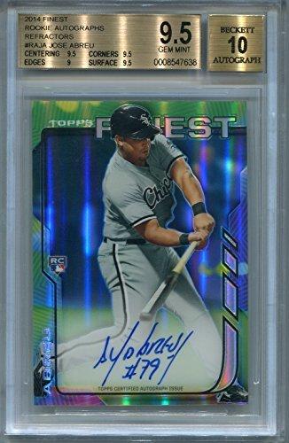 (Jose Abreu Rookie Chicago White Sox BGS Certified Authentic Autograph - 2014 Finest Rookie Refractors (Autographed Baseball Cards) )