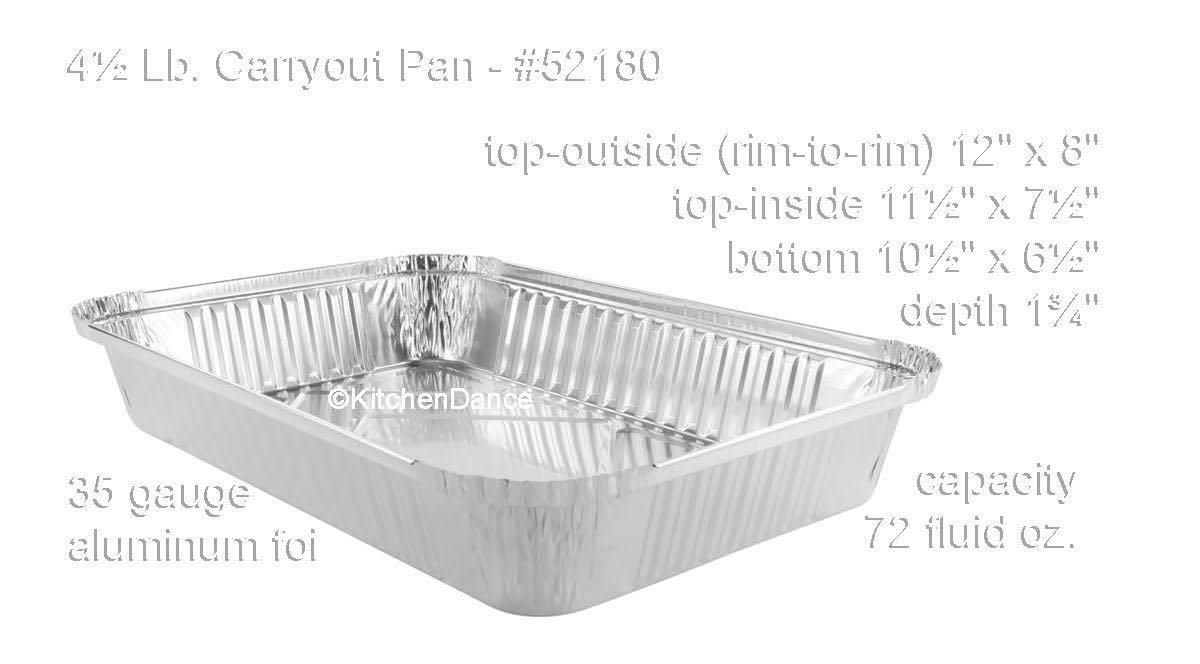 Black w//Gold Interior, 25 KitchenDance Disposable Colored Aluminum 4 Pound Oblong Pans with Board Lids #52180L