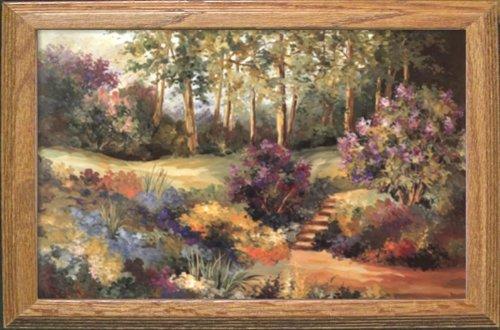Buyartforless IF GOGY 9923 Oak 1.75 32x20 Plexi Framed Lilac