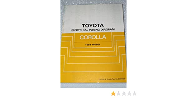 1988 Toyota Corolla Electrical Wiring Diagrams (AE92 Series): Toyota:  Amazon.com: BooksAmazon.com