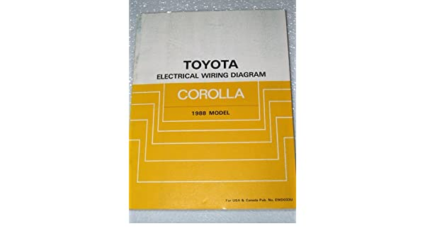 1988 toyota corolla electrical wiring diagrams ae92 series toyota rh amazon com 2010 Toyota Corolla Engine Diagram 2010 Toyota Corolla Engine Diagram