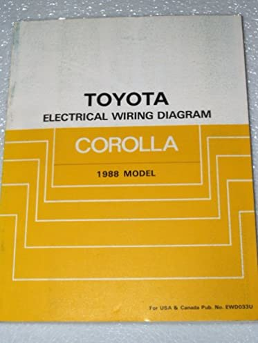 1988 toyota corolla electrical wiring diagrams ae92 series toyota rh amazon com Toyota Corolla Engine Diagram 2010 Toyota Corolla Wiring Diagram