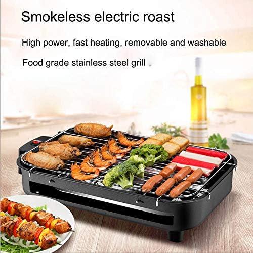 HEHAOYUAN Barbecue Elettrico Grill Senza Fumo Antiaderente Grill con Vassoio Raccogli Olio Riscaldamento Tridimensionale Facile da Pulire Sicuro E Sano