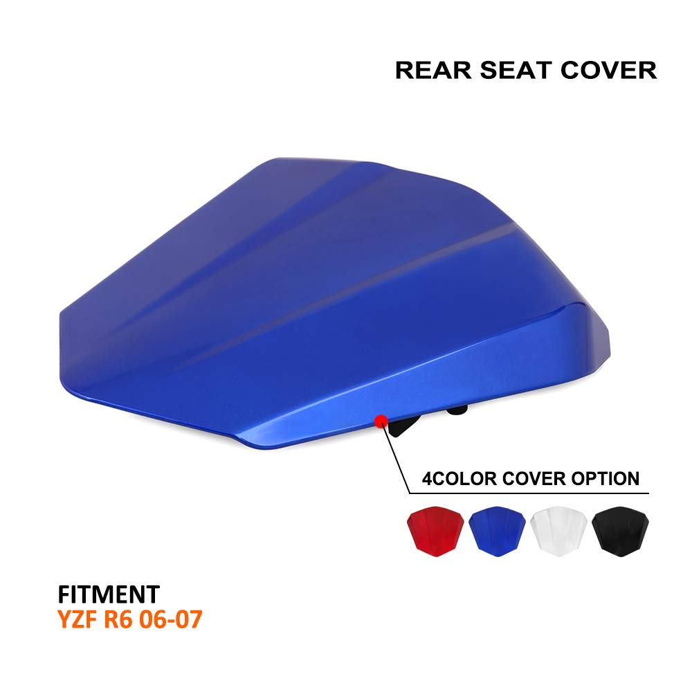 AnXin Motorcycle Blue Rear Seat Cowl Passenger Pillion Fairing Tail Cover For Yamaha R6 2006-2007