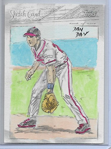 (2008 Topps Baseball Dan Day 1/1 Mark Teixeira Sketch Card Atlanta Braves)