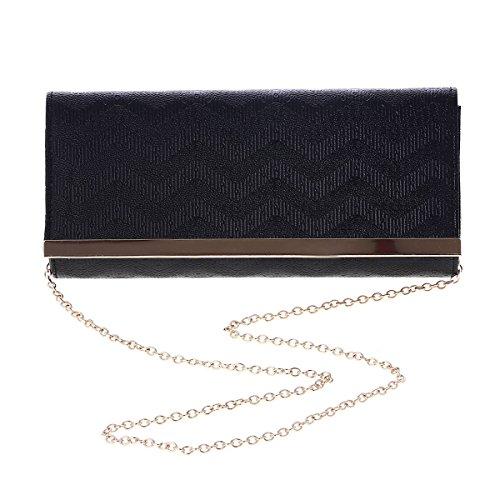 Wave Large Clutch Damara Handbags Stylish Textured Clutch Textured Wave Stylish Women Silver Large Handbags Silver Women Damara PC61qOwF