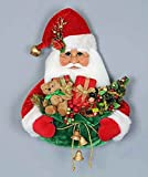 CHRISTMAS DECORATIONS - SANTA WITH TOY SACK WALL ART - FRONT DOOR DECORATION