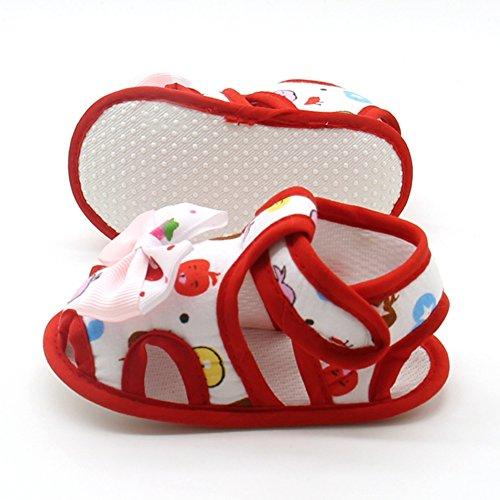 0 Mesi Rosso Con Neonata Kission 18 Fiore Bella Confortevole Neonate Scarpine zxzO4wq0gp