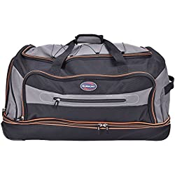 """Tangkula 30"""" Drop Bottom Rolling Wheeled Duffel Bag Carry On Luggage Travel Suitcase"""