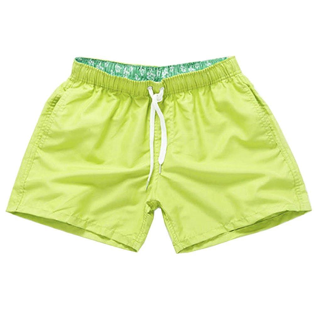 Herren Badeshorts Freizeit Kurz Shorts Einfarbig Schnell Trocknend Casual Strand-Shorts