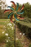 Alpine Corporation SLL1874 Colorful Swirl Kinetic Wind Spinner Garden Stake, 64 Inch Tall, Multi