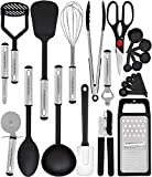 Kitchen & Housewares : Home Hero Kitchen Utensil Set - 23 Nylon Cooking Utensils - Kitchen Utensils with Spatula - Kitchen Gadgets Cookware Set - Best Kitchen Tool Set