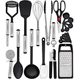 Home Hero Kitchen Utensil Set – 23 Nylon Cooking Utensils – Kitchen Utensils with Spatula – Kitchen Gadgets Cookware Set – Best Kitchen Tool Set