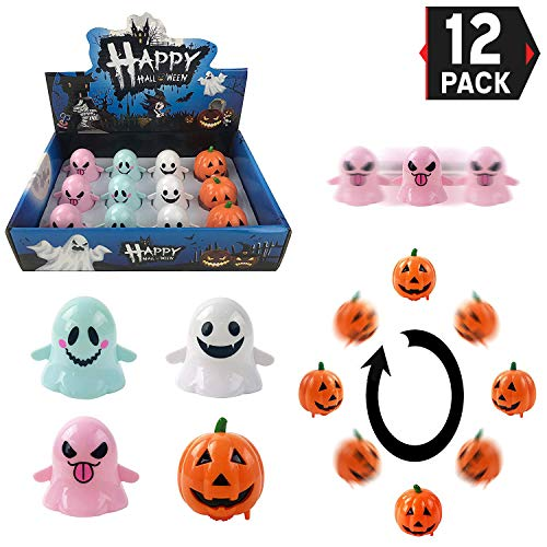 Halloween Goody Bag Wind Up Pumpkins and Ghosts 12 Pack, Wind Up Toys Halloween Party Favors -