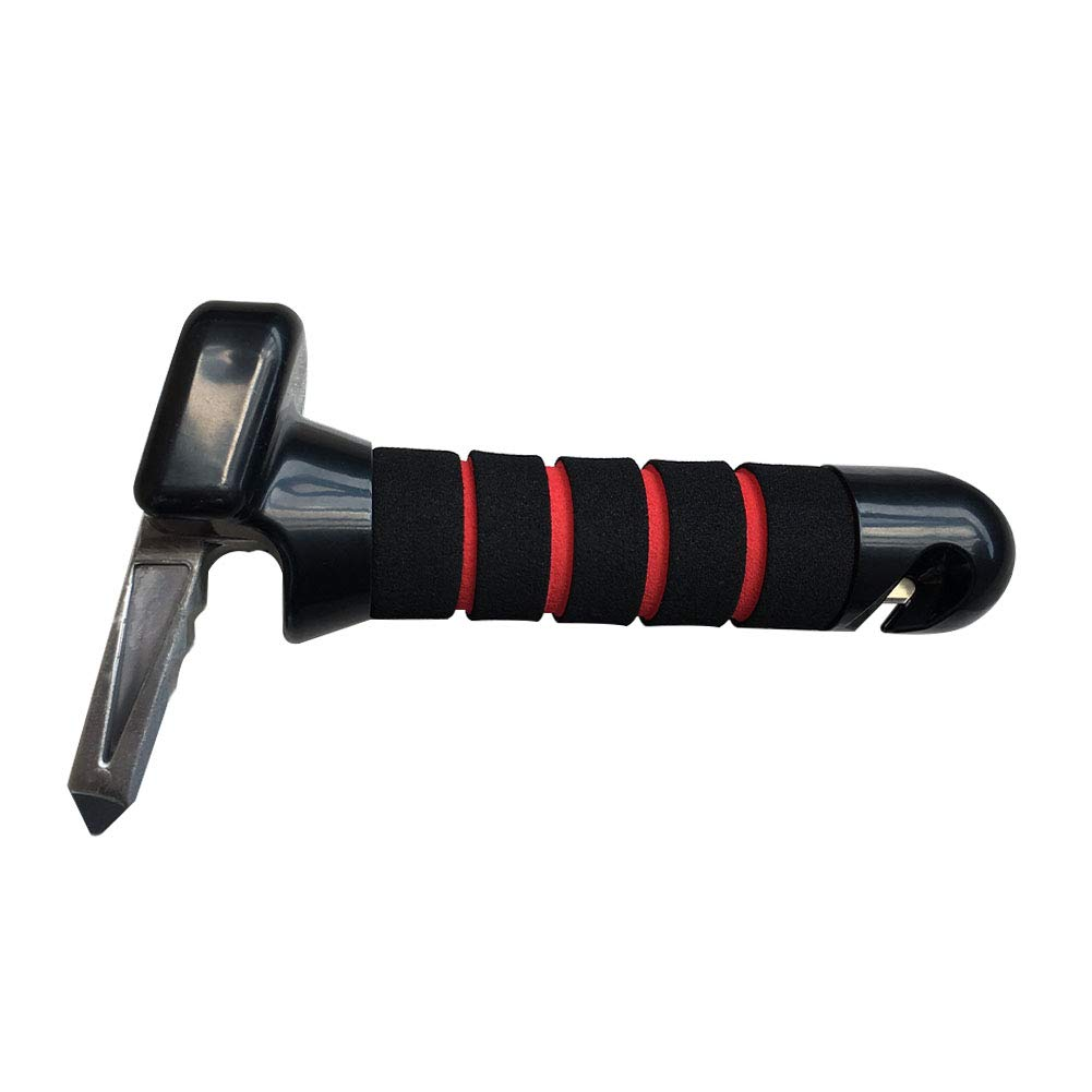 Tunery Car Handle, Portable Safety Hammer with Window Breaker, Sustain up to 350 LB Weight. by Tunery