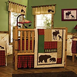 Trend Lab Trend Lab Northwoods Boy's 6 Piece Crib Bedding Set, Brown