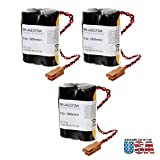 3pc Exell Battery 6V PLC Lithium Computer Backup Battery Replaces Cutler Hammer A06 Controller Battery, Cutler Hammer A06B-0177-D106, Cutler Hammer A98L-0031-0011, Dantona COMP-193HC