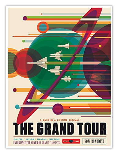 NASA JPL Visions of The Future Space Tourism Travel Poster The Grand Tour Handmade Gallery Print (18x24) ()
