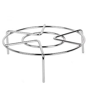 Pressure Cooker Trivet Food Vegetable Steamer Shelf Metal Wire Steaming Rack Tray Basket Stand Pressure Cooker Wok Pan Kitchen Gadget 2-3/8'' Height