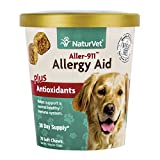 NaturVet Aller-911 Allergy Aid Plus Antioxidants for Dogs, 70 ct Soft Chews, Made in USA